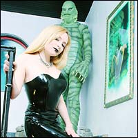 Aiden Starr and Creature from the Black Lagoon