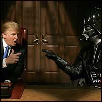 Donald Trump and Darth Vader Star Wars Apprentice Double Team