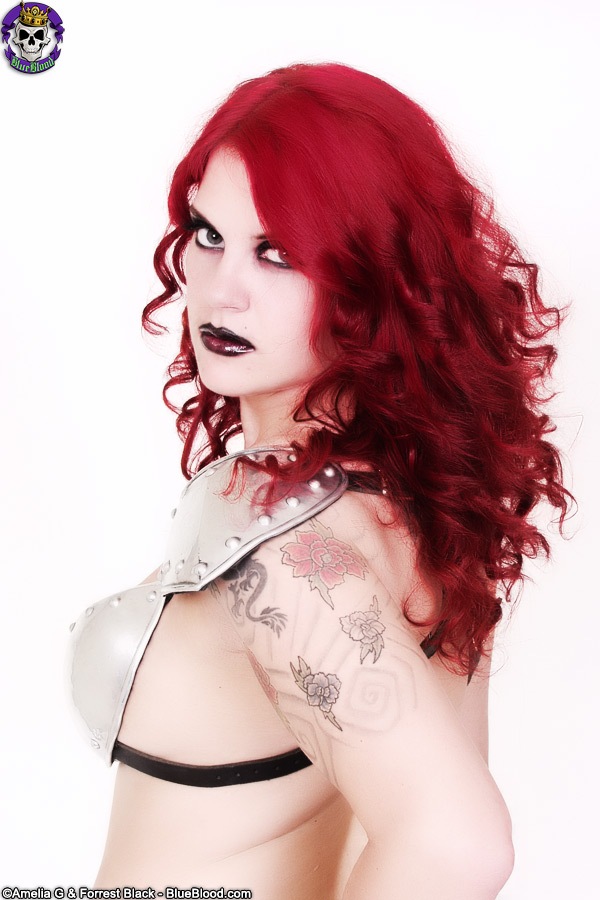 erotic fandom delilah barbarian armor redhead tattoo blueblood