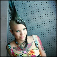 Mohawk Punk Teen Tara Toxic in Color