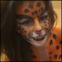 Kickaz Amazing Tigress Body Painting