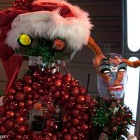 Aiden Starr and Xmas Terminator Robot