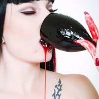Nina Sin makes a bloody mess