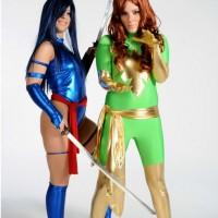 Phoenix and Psylocke battle it out