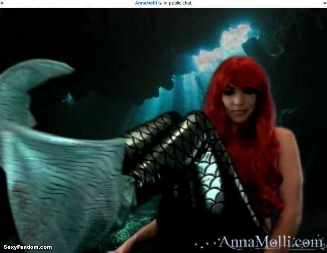 annamolli ariel little mermaid cam