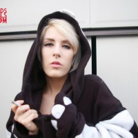 Anastassia in a onesie