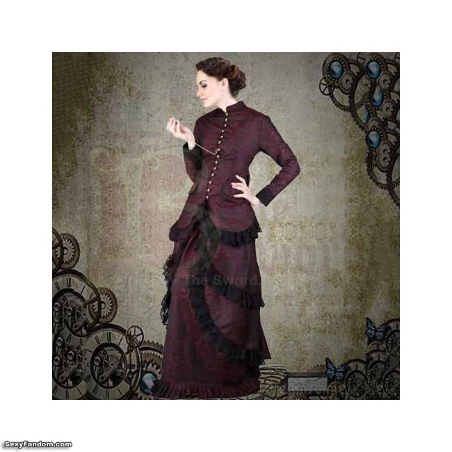 by the sword brocade dress