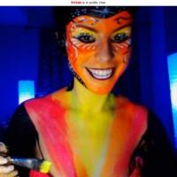 Kickaz Neon Bodypainting Cam