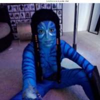 Blue Avatar Babe Leia Down