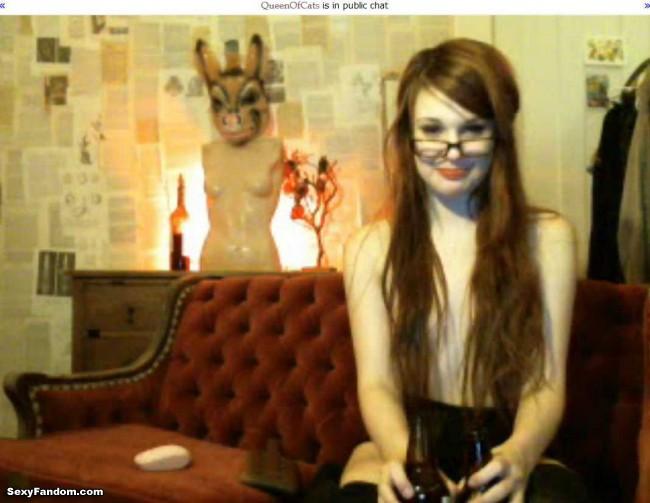 queenofcats beer music cam glasses