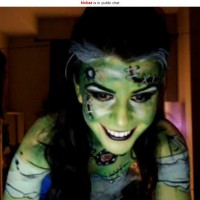 Sexy Frankenstein Bodypainting