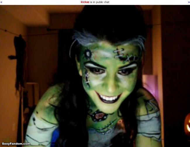 kickaz frankenstein makeup cam