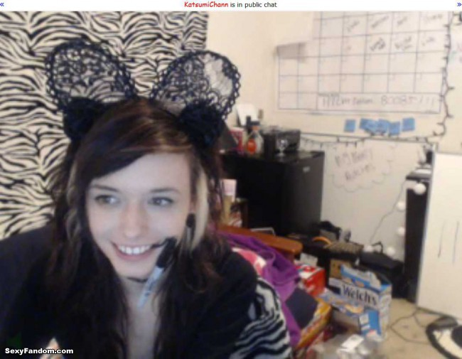 katsumichann goth kitty ears cam