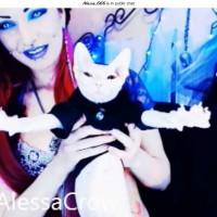 Vampire Alessa Crow and Alien Santu