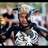 A Cosplay of Venom from Spiderman