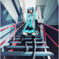 Hatsune Miku from Vocaloid by Kaguya Hime Cosplay