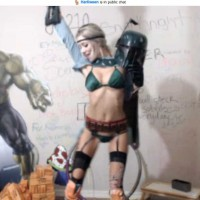 Harli Lotts Cosplays Sexy Boba Fett