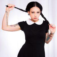 Necro Nicki's Perversely Provoking Wednesday Addams Cosplay