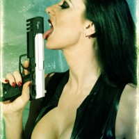 Diana Knight Cleavage And Guns