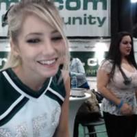 Cheerleader Fett and MFC at Exxxotica