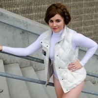 Copper Chrome's Hoth Leia Cosplay