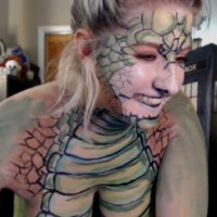 Kaylee Pond Dragon Bodypainting Live Now