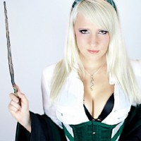 Wicked Beauty: Slytherin Cosplay by Raychul Moore