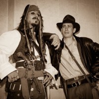 Captain Jack Sparrow and Indiana Jones Cosplay by Captain Cosplayyy
