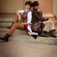 Jetspectacular and Aerial's Eponine and Marius Les Miserables cosplay