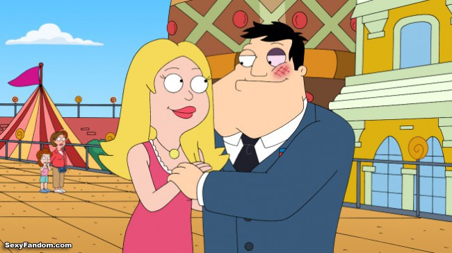 "AMERICAN DAD: When Stan won't honor the ""love coupons"" he gave Francine for Valentine's Day, future-cyborg Stan visits the past to sweep Francine off her feet in the ""May The Best Stan Win"" episode of AMERICAN DAD, airing Sunday, Feb. 14 (9:30-10:00 PM ET/PT) on FOX.  AMERICAN DAD ™ and © 2010 TTCFFC ALL RIGHTS RESERVED."