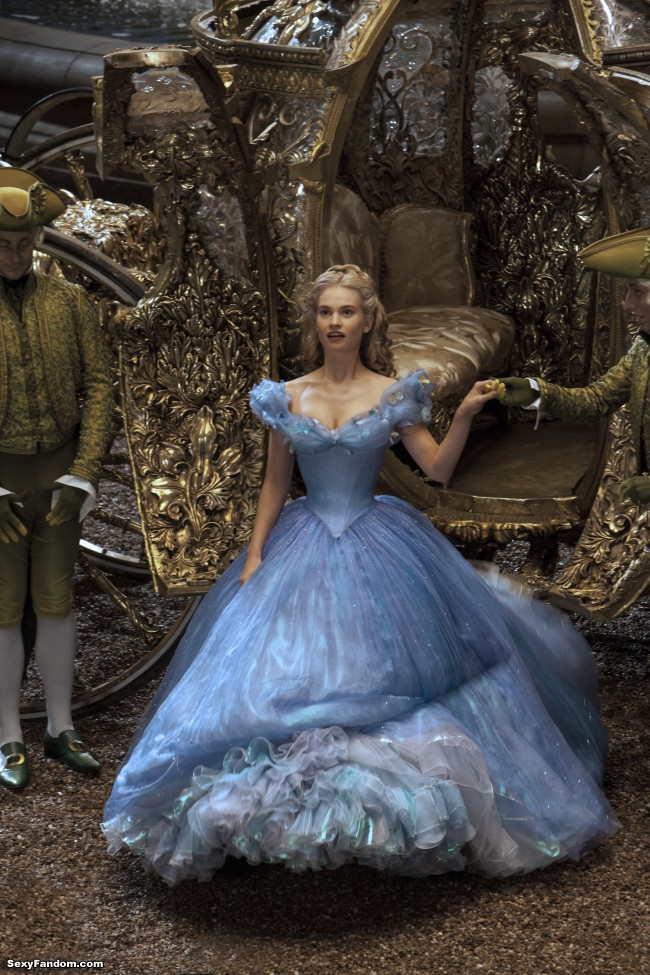 Lily James as Cinderella in Disney's live-action movie