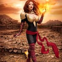 "Yaya Han as ""The Phoenix"""