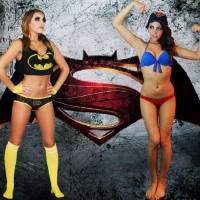 Batgirl vs Supergirl: Dawn of Justice Cosplay by Griffin Maria