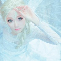 Saida from South Korea as Elsa