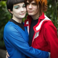 Adorable Spock Star Trek and Jaden Yuki Yu-Gi-Oh Cosplay by Opposite of Amnesia and Honestly I Have No Idea How His Hair Does That