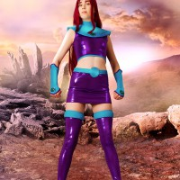 Stacy In Starfire Cosplay Super Upskirt