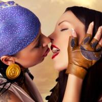 Mea Lee and Devorah Erotic Kisses In Dragon Age Cosplay