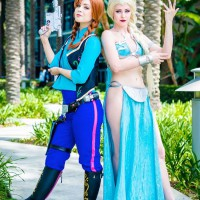 Whimsical Crossover Star Wars and Frozen Cosplay by LifeofShel and Maid of Might Cosplay
