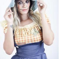 Erika Perez is A Sexy Scarecrow!