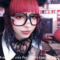 Glittery Alien Vampire Schoolgirl Babe in Glasses