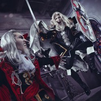 Awesome Castlevania Alucard and Dracula Cosplay by Adelhaid and Faeryx13