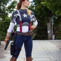 Annette Lund's Excellent Captain America Genderbend Cosplay
