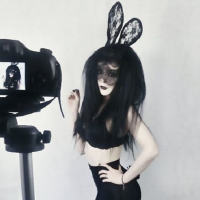 Gothic Bunny Cosplay by Demi Doom