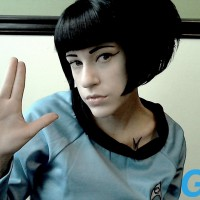 Myra explores her Vulcan anatomy