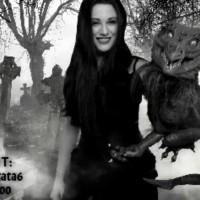Veronica Chaos Morticia Addams Graveyard Cosplay Karaoke
