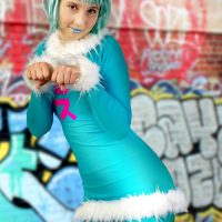Stacy Rollerskates and Mischief In Mew Cosplay