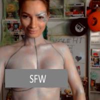 EliseRivers Sexy Seven Of Nine Body Painting