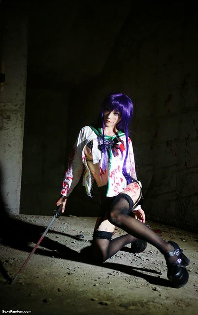 Flawlessly Deadly Saeko Busujima Cosplay