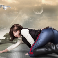 Daring Hannah Solo Plays with Her Gun…