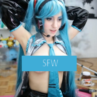 Awe-Inspiring LanaRain in Superb Miku Cosplay